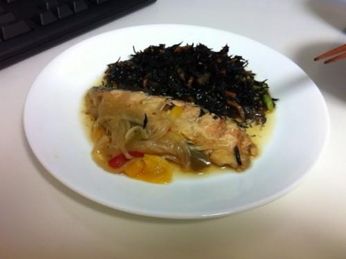 鮭の南蛮漬け&ひじき煮