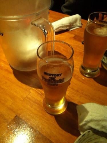 懇親会のビールはうまい