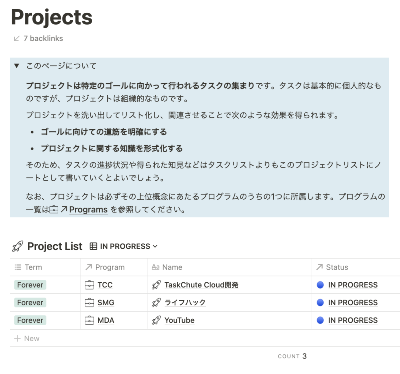 Notionの最強プロジェクト管理テンプレート 5