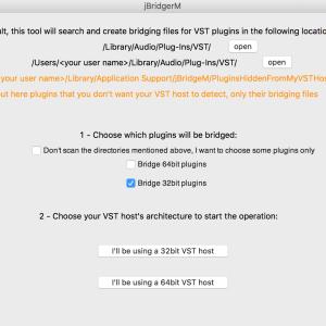 jBridgeMを使えばMacの64bit環境で32bit Pluginが使えるようになる!